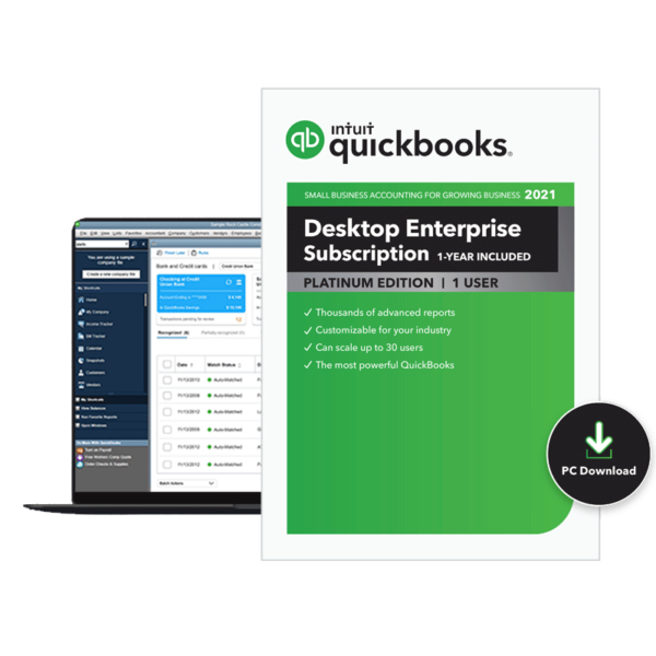 2021 QuickBooks Enterprise Platinum Edition