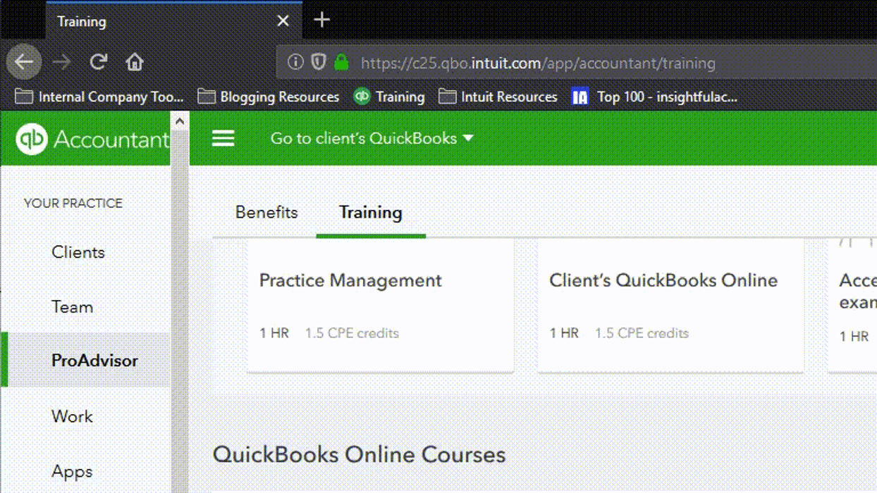 quickbooks proadvisors receive training to help clients with their quickbooks products.