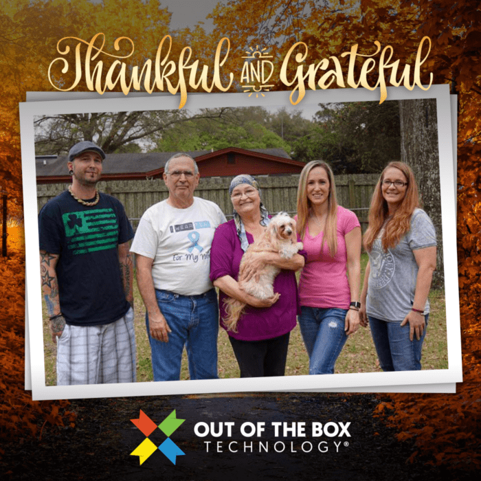 out of the box technology family wishing you all a happy thanksgiving