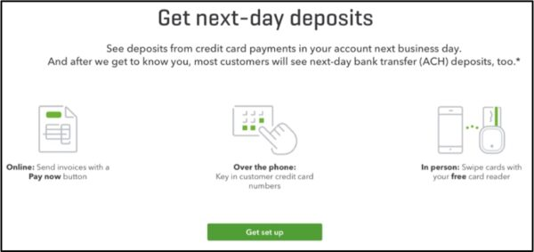 Get credit card, debit card, and ACH bank transfer payments deposited the next business day.